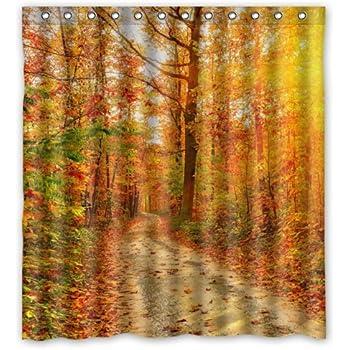 Nice Amazing Autumn Shower Curtain Contemporary   The Best Bathroom Ideas .