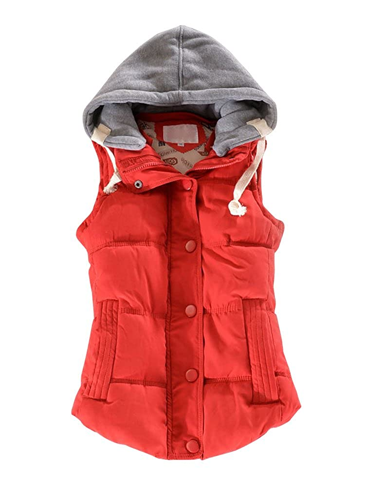 OCHENTA Women Quilted Waterproof Outdoor Gilet Zipper Vest Jacket