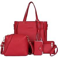 Bangle009Big 4pcs Luxe Mode Femme Pompon Wallet Card Holder Sac à Main bandoulière Sac Lot