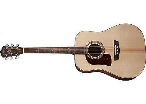 Washburn HD10SLH Guitarra acústica de 6 cuerdas, brillo natural ...