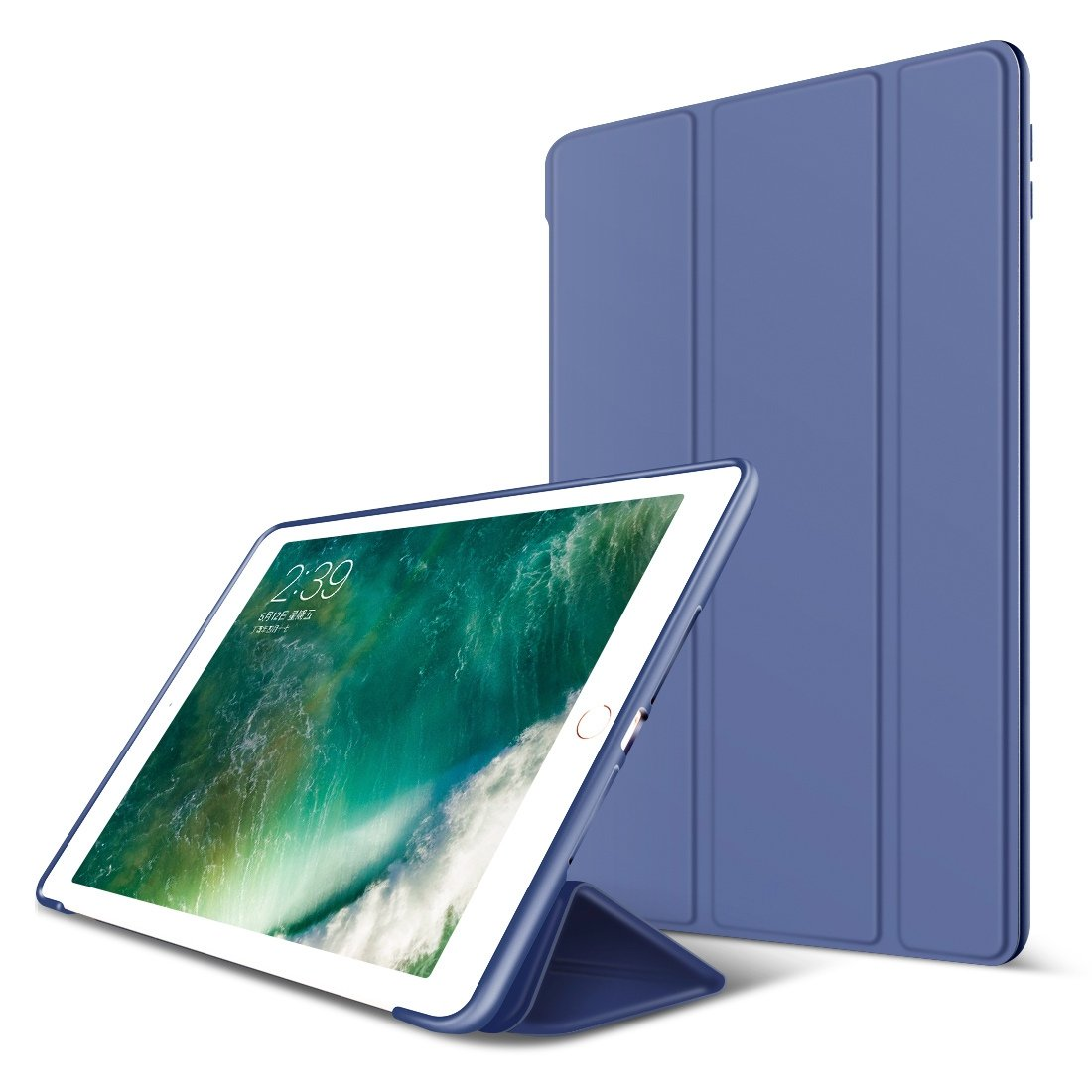 iPad Air 2 Case, GOOJODOQ Smart Cover with Magnetic Auto Sleep/Wake Function PU Leather Shockproof Silicon Soft TPU Folio Case for Apple iPad Air 2 in Rose Gold GOOJODOQA101case-6