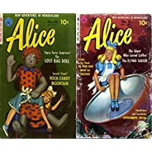 Alice Issues 11 and 12. Cartoon Comics. New adventures in wonderland. Topsy turvy surprises the Lost rag doll, rock candy mountain, the giant who loved coffee, the flying saucer and more.