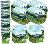 Wild Horses Birthday Party Supplies Set Plates Napkins Cups Tableware Kit for 16 by Birthday Galore