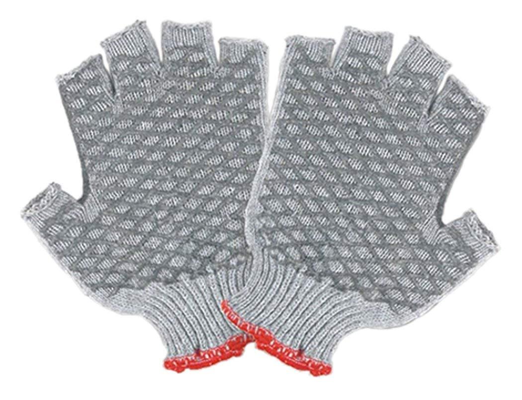 Gray Knit Fingerless Small Majestic Glove 1525F//8 Glove Pack of 12 Criss-Cross