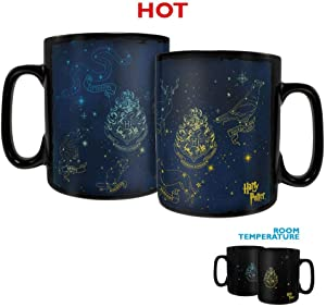 Harry Potter – Constellations – Hogwarts Houses – Padfoot – Prongs – 16 oz Large Ceramic Morphing Mugs Heat Sensitive Clue Mug – Full image revealed when HOT liquid is added
