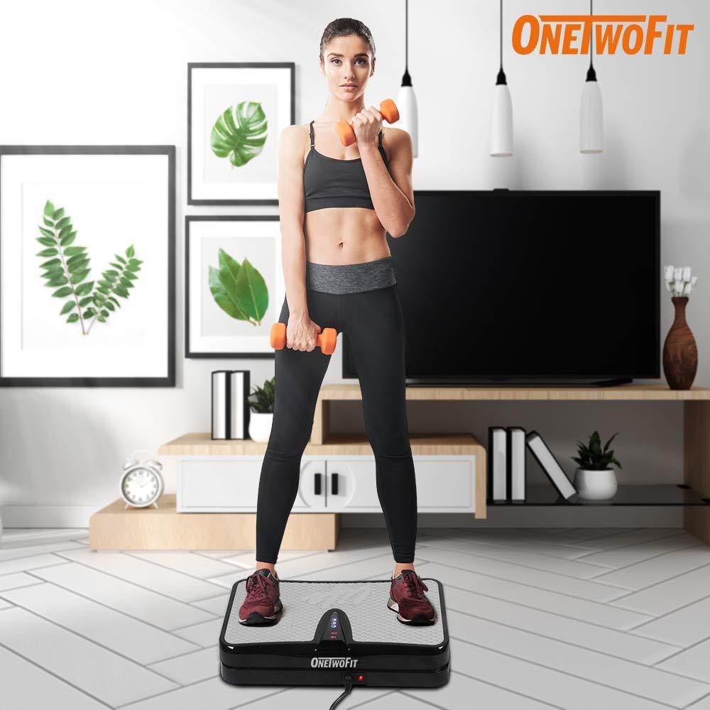Attrezzatura per lallenamento Macchina di Allenamento a Vibrazione del Corpo per la casa ONETWOFIT Piattaforma Vibrante per Il Fitness