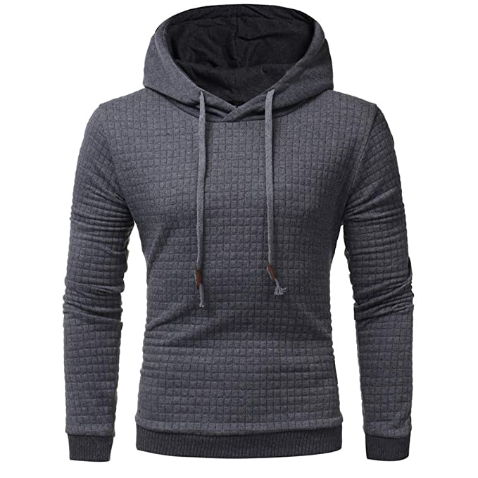 011b232da1bad9 MIRRAY Herren Solide Langarm Kapuzenpullover mit Kapuze Sweatshirt Tops  Jacke Mantel Outwear: Amazon.de: Bekleidung