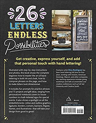 Big Awesome Book of Hand & Chalk Lettering, The: Dina