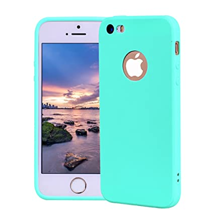 4ef2a73f9cd Funda iPhone 5, Carcasa iPhone 5S Silicona Gel, OUJD Mate Case Ultra  Delgado TPU