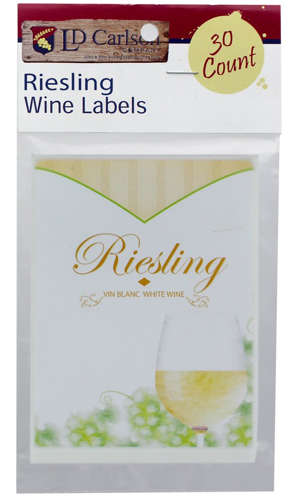 Home Brew Ohio Riesling Wine Labels