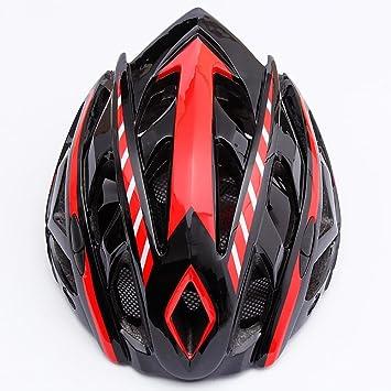 TKUI Elegante Casco de Bicicleta de Carretera para Adultos con Visera Protector Ajustable Deporte Aero Casco