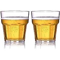 MICHLEY Irrompible Vasos de Cerveza, 100% Tritan Plástico