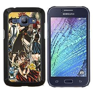 LECELL--Funda protectora / Cubierta / Piel For Samsung Galaxy J1 J100 -- Guerreros japoneses Cartoon --