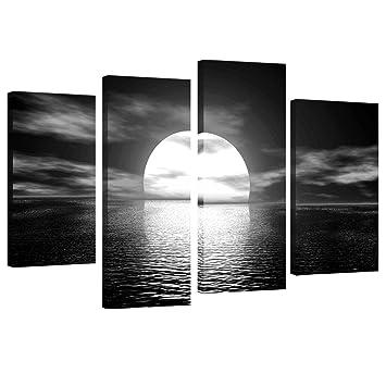 Amazon.com: 3 paneles de pintura de playa, hacer ejercicio ...