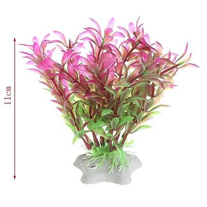 Xuniu Plantas Artificiales Agua Hierba Pecera Acuario Decoración Akvaryum (11cm): Amazon.es: Hogar