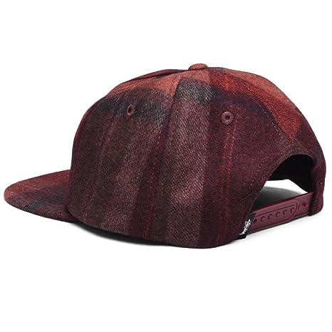 Stussy Smooth Wool Snapback Cap - Burgundy-One Size  Amazon.co.uk  Clothing ee8d1855c0e