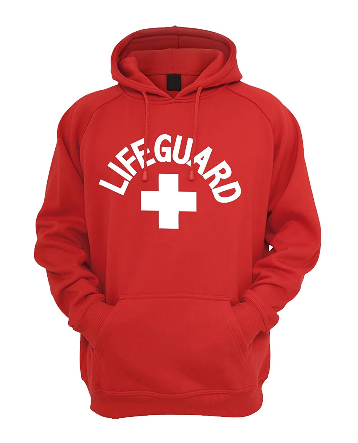 Qualifornia White Lifeguard Design Unisex Hoodie