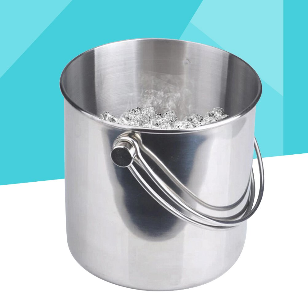 BESTONZON Premium Stainless Steel Ice Bucket with Strainer and Tong Beer Wine Champagne Cooler (2L) by BESTONZON (Image #5)