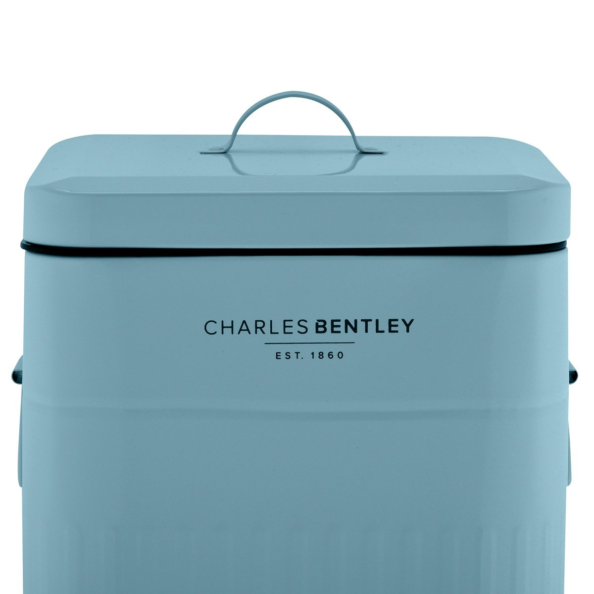 Charles Bentley 30L Steel Square Retro Kitchen Pedal Rubbish Waste ...