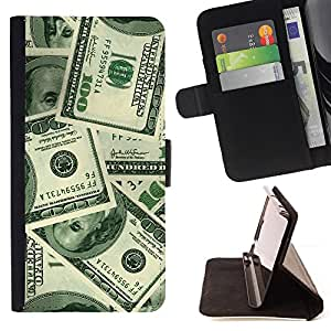 DEVIL CASE - FOR Apple Iphone 6 - Money Hundred Dollars Wealth Sichness - Style PU Leather Case Wallet Flip Stand Flap Closure Cover