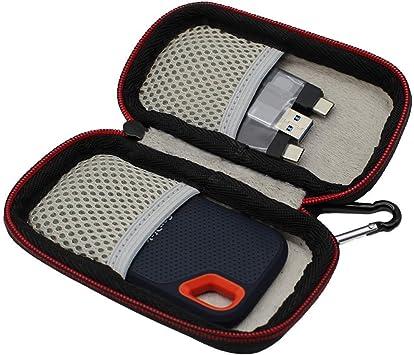 VIVENS Portátil Funda para SanDisk Extreme Portable SSD 500 GB ...