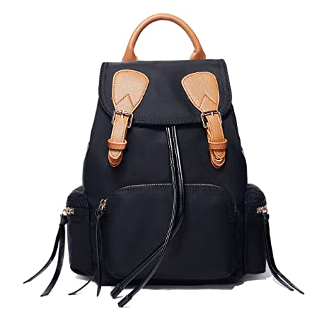 Midsy Mochila Escolar Joven Mochila de la Ciudad Mujer Shopping Daypacks Moderna Mochilas con Borla Simple