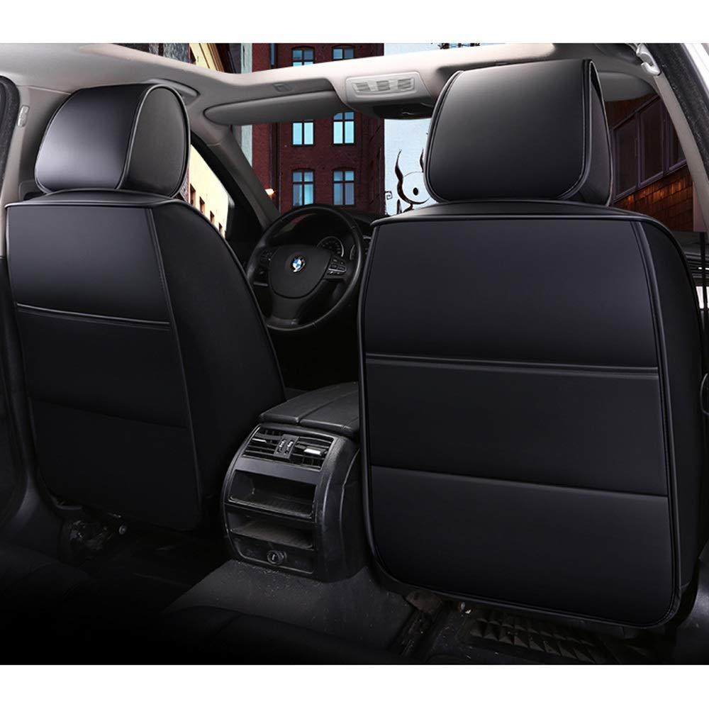 Color : Black Juego Completo de 5 Asientos Airbags Compatibles Delanteros Y Traseros Coj/ín Protector de Confort de Cuero Transpirable DaFei Fundas para Asientos de Autom/óvil