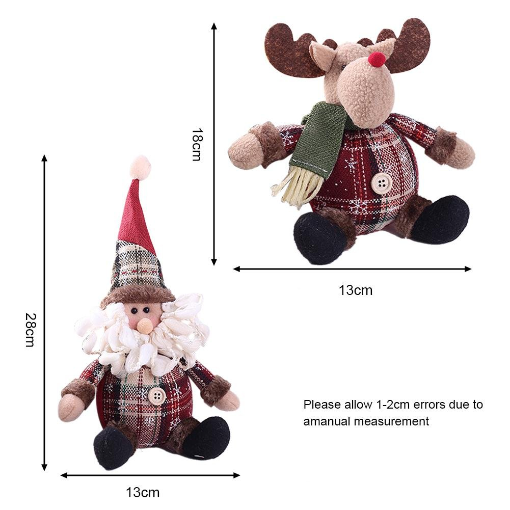 PER Lovely Christmas Cartoon Stuffed Doll Xmas Room Decoration Home Decors Ornaments-Reindeer by Per (Image #2)