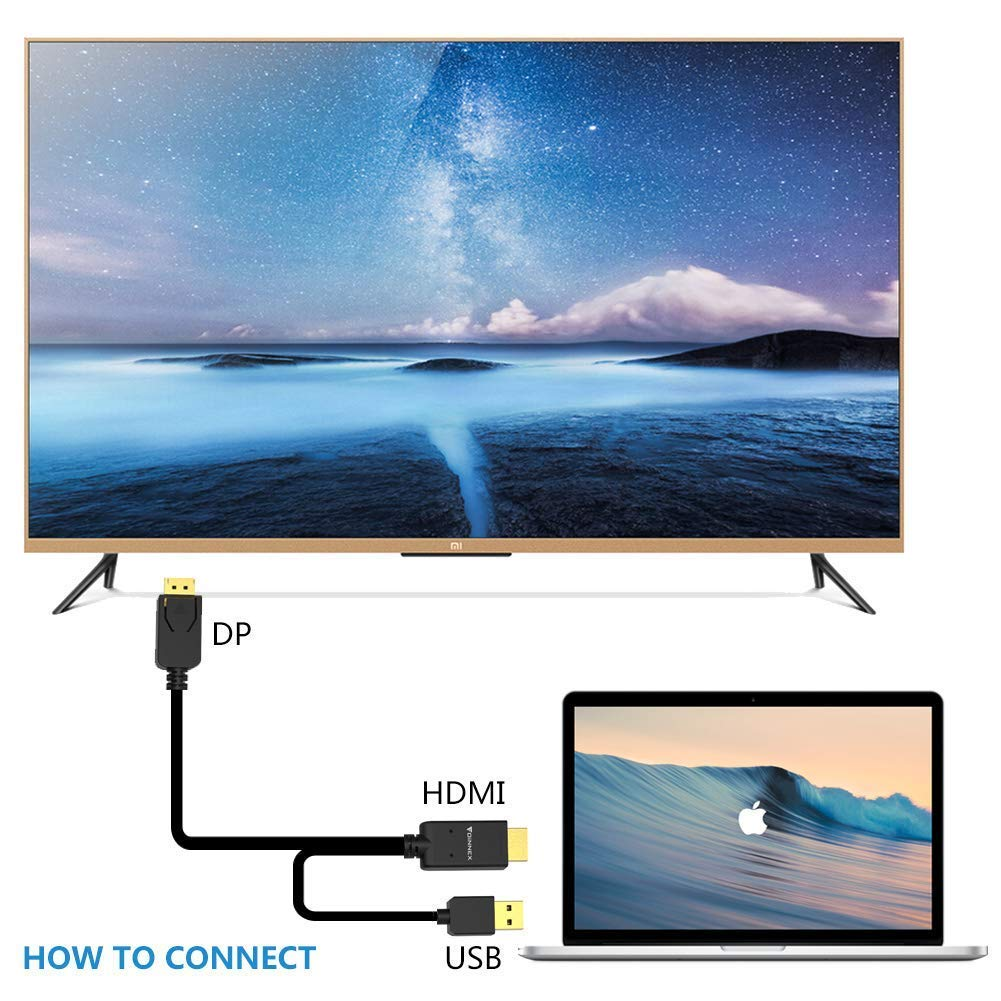Amazon.com: HDMI to Displayport Cable (4K,6FT)FOINNEX Active HDMI to ...