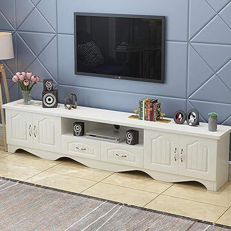 Mueble de TV de madera maciza Mueble de dormitorio moderno y minimalista, resistente al agua y a