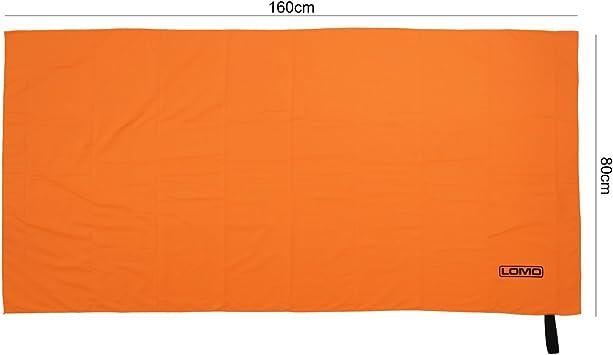 Lomo microfibre camping bath towel 80cm x 160cm Orange
