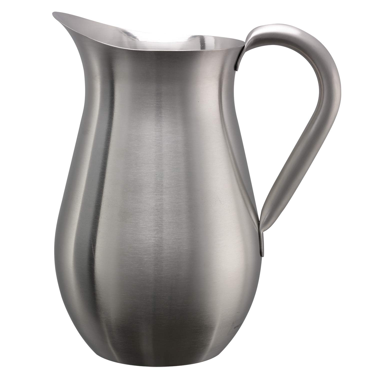 Service Ideas WPB2BSNG Pitcher, Bell Shaped, Brushed, No Guard, 2 L