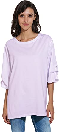 Women Oversize Boyfriend Plus Style Short Sleeve Casual Loose Fit Shirt Blouse Tops At Amazon Women S Clothing Store