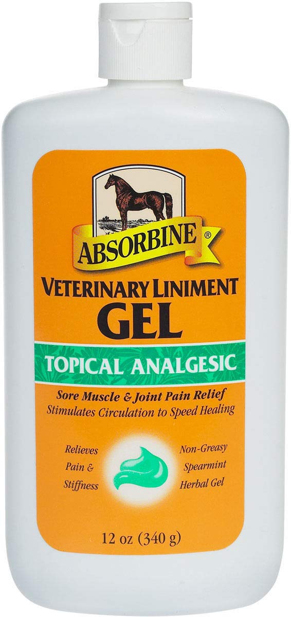 Absorbine Veterinary Liniment Gel Sore Muscle & Joint Pain Relief 12oz. by Absorbine Veterinary