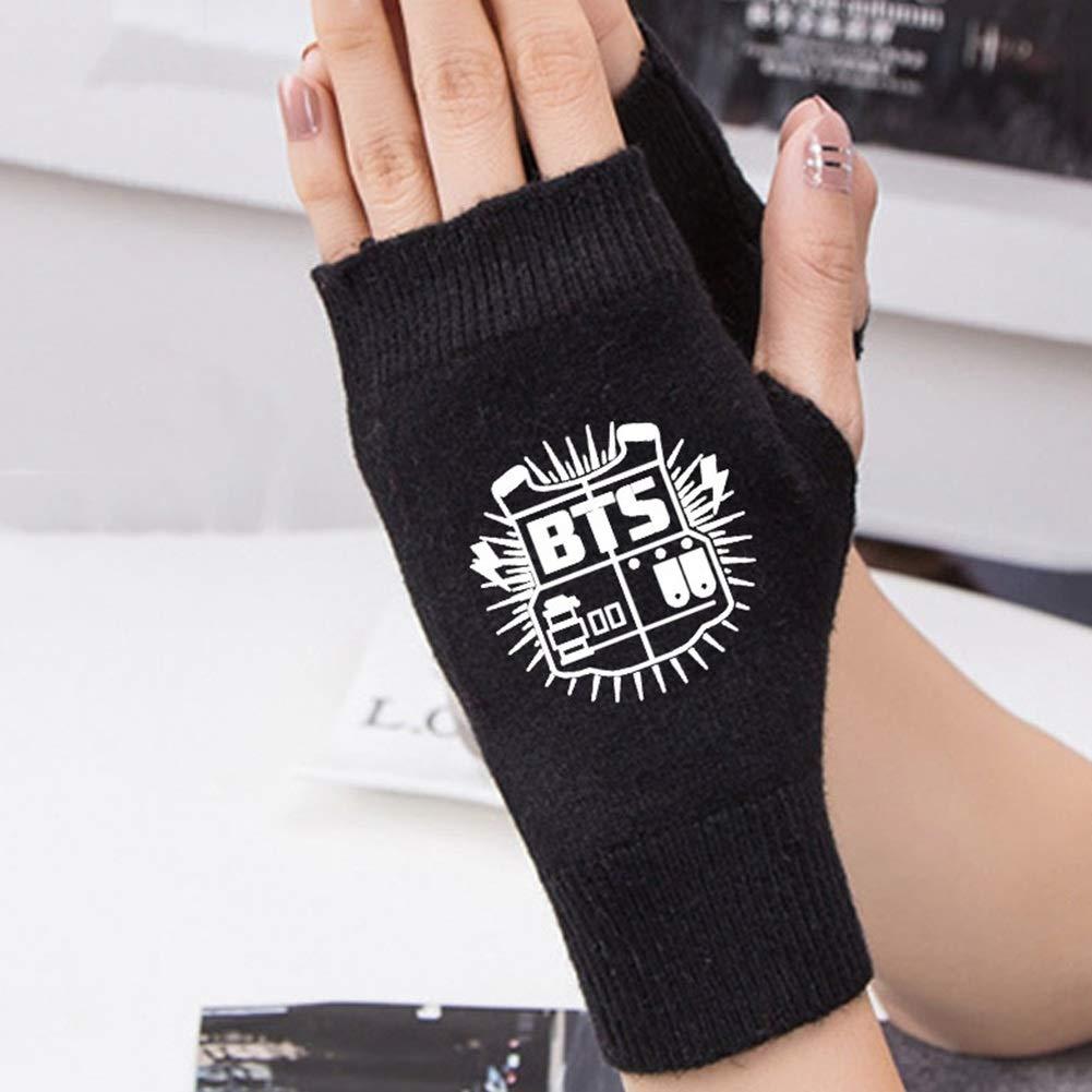 Nuofeng Kpop BTS Gloves Bangtan Boys Blackpink Got7 Seventeen Twice Support Plush Gloves Winter Warm Gloves