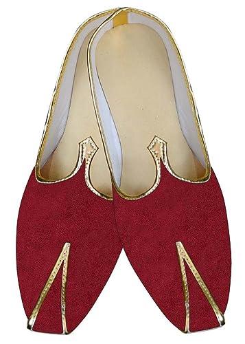 Mens Red Velvet Wedding Shoes MJ015368