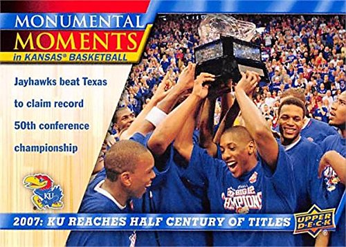 2007 Team Basketball Card (Kansas Jayhawks, 50th Conference Championship) 2013 Upper Deck Monumental Moments #94
