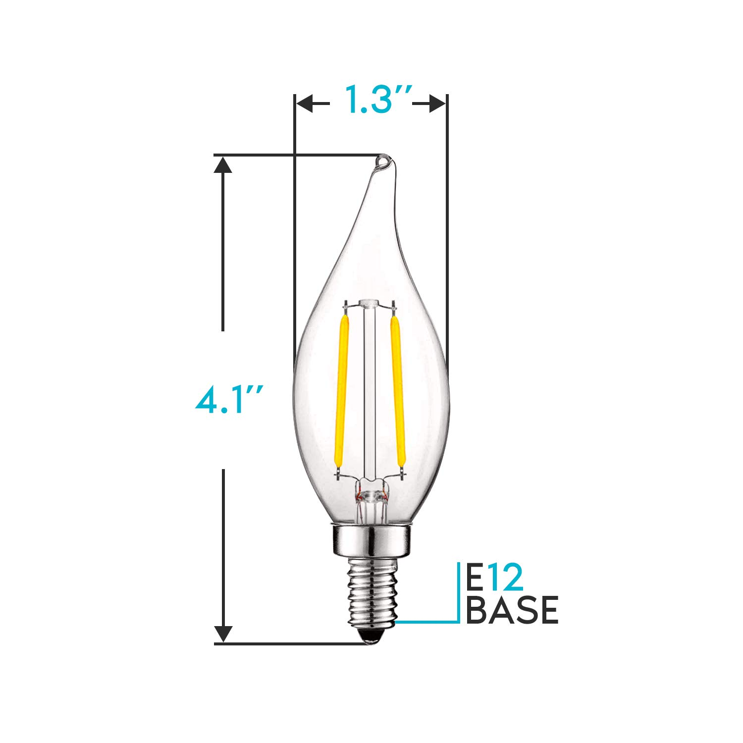 12 CLEAR LED GLOBE BULBS DIMMABLE COOL WHITE, 4W
