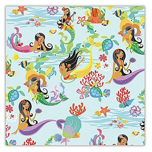 Island Hula Mermaids Hawaiian Continuous Gift Wrap Paper 2 Rolls]()