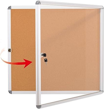 Swansea Enclosed Bulletin Board Lockable Pin Noticeboard Wall Locking Display Case For School Office67x72cm 6xa4 Amazon Co Uk Office Products
