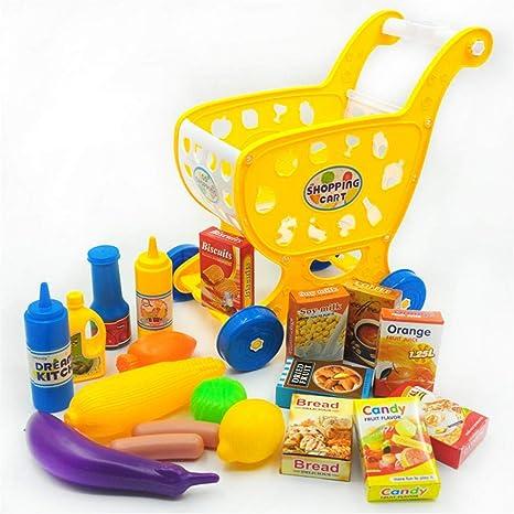 Carrito de compras para niños Carrito de compras - Juego de cocina Vegetal Juguete educativo -