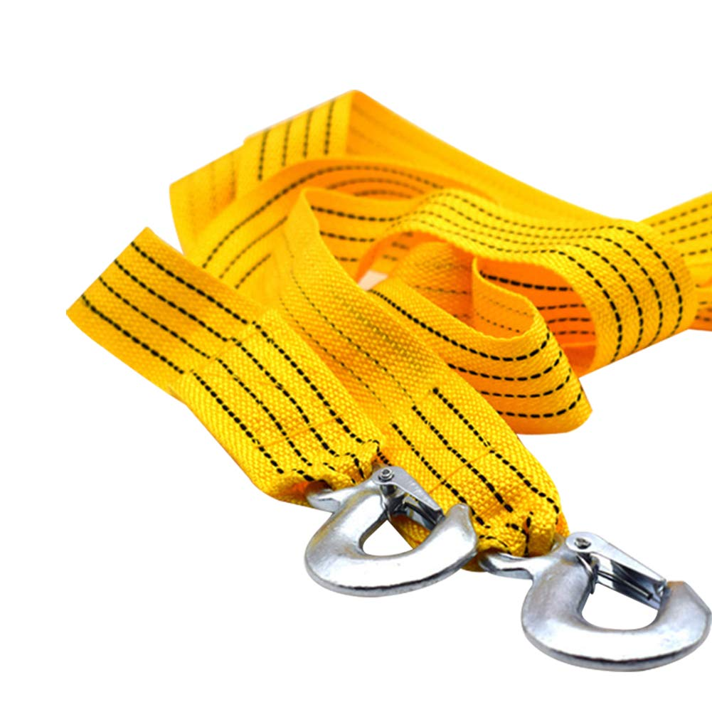 Pouybie Corde de remorquage 5 Tonnes 3 Tonnes Double /épaisseur Voiture Accessoires 3M 4M 5M Camions Corde de Traction avec 2 Crochets Route durgence