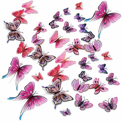 Topixdeals Double Butterfly Stickers Butterflies
