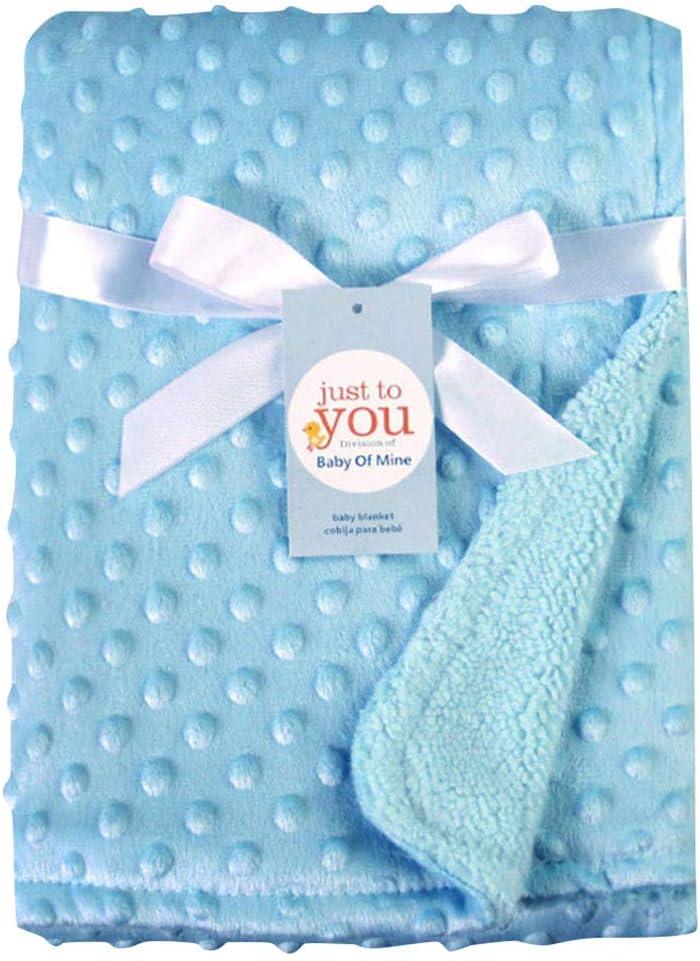 Manta para bebés recién nacidos y envoltura térmica Manta de felpa suave edredón de cama Azul talla única