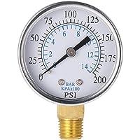 Hemobllo 0-200 Psi 0-14 Bar Compresor Manómetro