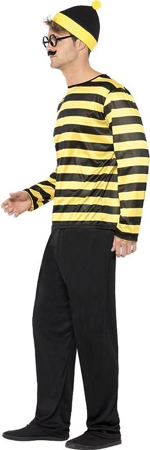 Smiffys - ¿Dónde está Wally Odlaw Traje, color negro y amarillo ...