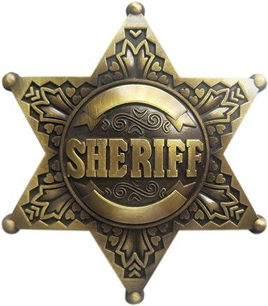 SHERIFF BELT BUCKLE MADE IN USA HEAVY DUTY