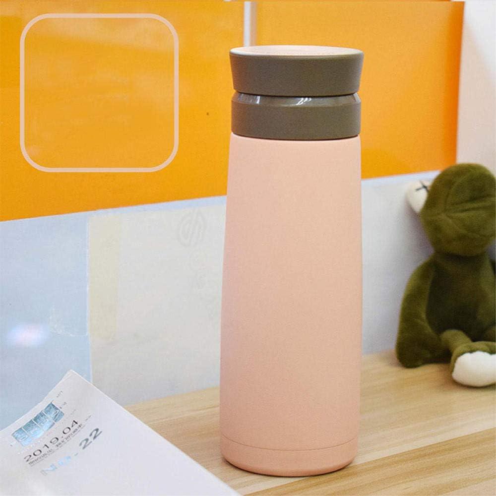 B/H Reutilizable Filtro Botella Gimnasio,Taza Aislante portátil Taza de Agua Interior de cerámica-Rosa,Botella de Agua Deportes