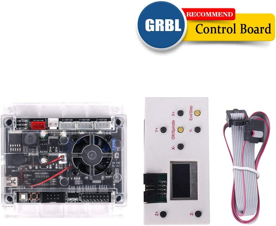 3 Axis GRBL 1.1f USB Port CNC Engraving Machine Control Board and GRBL Offline Controller Remote Hand Control for CNC Router Engraving Milling Mini DIY Laser Machine CNC 1610//2418//3018//3018 PRO