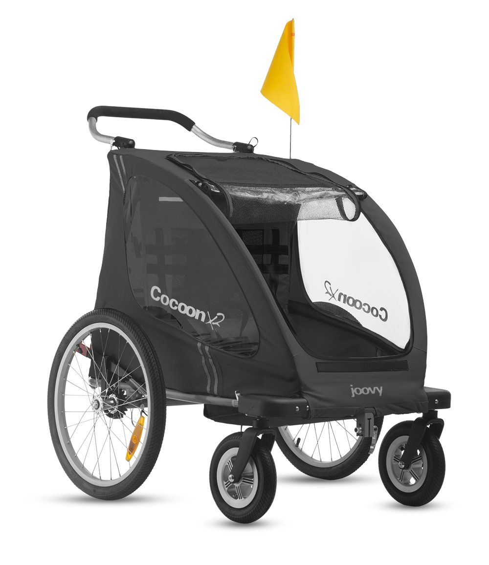 Joovy Cocoonx2 Enclosed Double Stroller Black (Discontinued by Manufacturer)